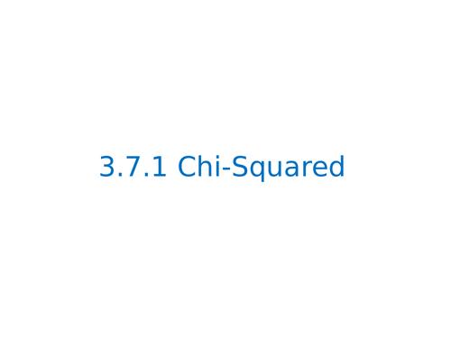 AQA A Level Biology Chi Squared Test
