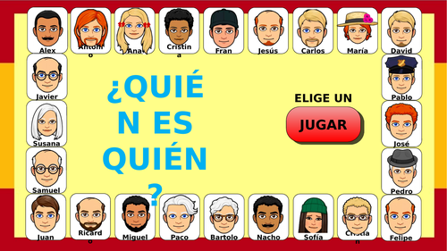 ¿Quién es quién? / Who is who? - Spanish game