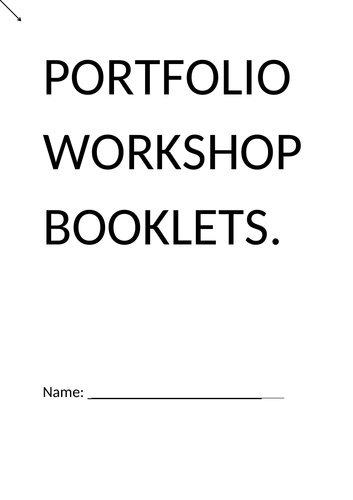 Edexcel A Level Drama and Theatre Component 1: Improving Portfolio Workshop Booklet (2016 SPEC)