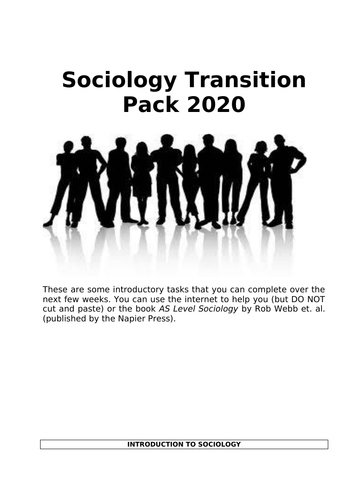A-level Sociology Transition Pack 2020