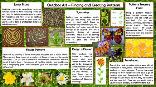 Outdoor Art -Finding and Creating Patterns