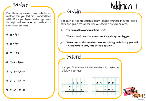 Written Methods of Addition