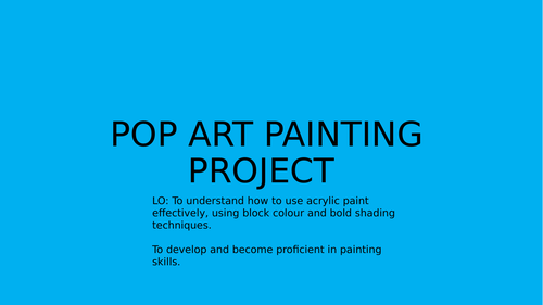 Pop Art painting project - Andy Warhol.