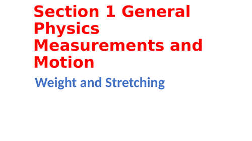 IGCSE Physics Section 1 General physics, Forces and momentum