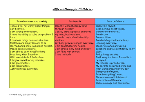 Affirmations for Children