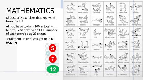 PE Maths Challenge