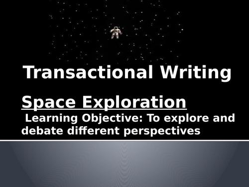 Transactional Writing - Debates