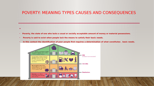 Poverty : Meaning, Causes, types and levels of poverty.