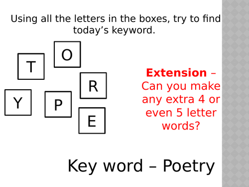 Introduction to Poetry / AQA Anthology