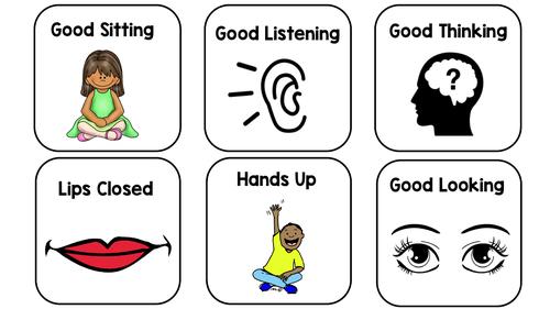 Visual Behaviour Expectation Cards