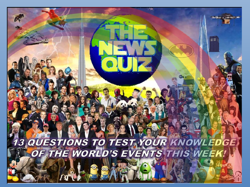 CURRENT WEEK The News Quiz 1st -8th June 2020 Form Tutor Time Current Affairs