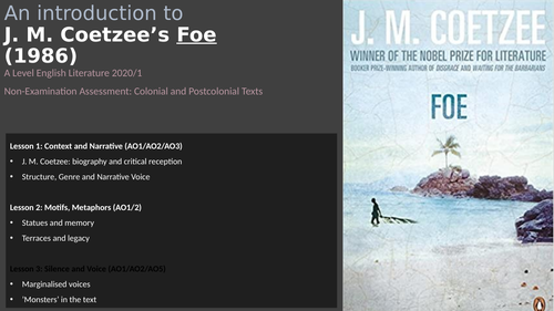 Coetzee's Foe (1986) - Narrative voices