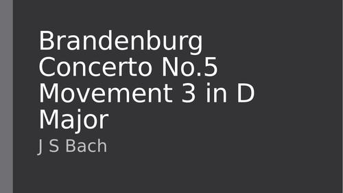 Edexcel GCSE Music Bach Brandenburg set work analysis and student booklet