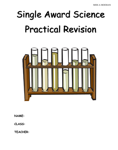 CCEA Single Award Science Pratical Revision Booklet