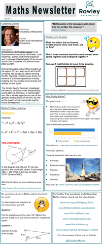 Year 11 Newsletter. A-Level Recruitment Issue 3/4