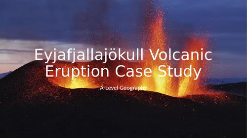 Eyjafjallajökull Volcanic Eruption Case Study A-Level GCSE