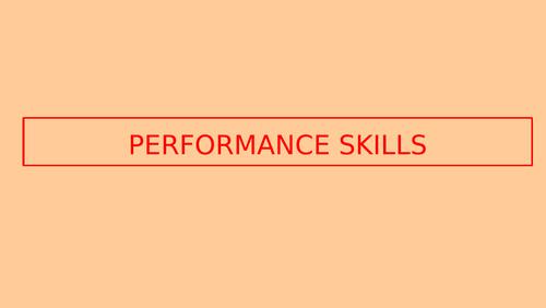 PERFORMANCE SKILLS GCSE DANCE