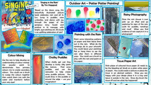 Outdoor Art - Pitter Patter Painting (rainy day)