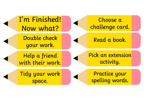 Literacy Fast Finishers