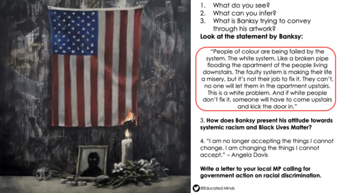 Banksy and Black Lives Matter Lesson