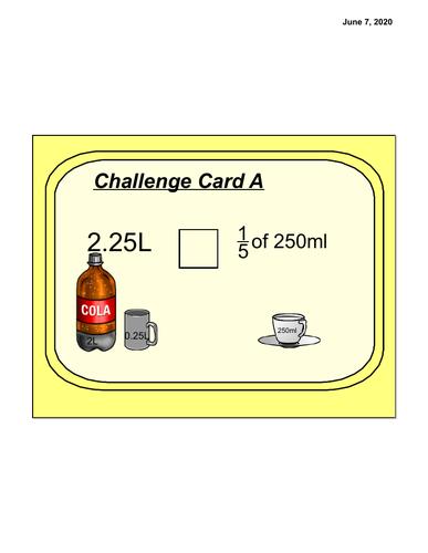 Fraction Measurement challenge cards