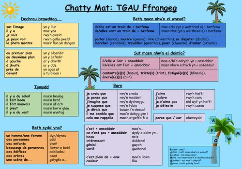Chatty Mat - Ffrangeg/Cymraeg - French/Welsh