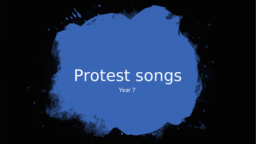 Protest Songs Scheme of Work - KS3