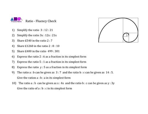 Ratio Fluency Check