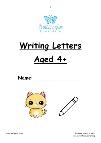 4+ Writing Letters and Phonics Workbook