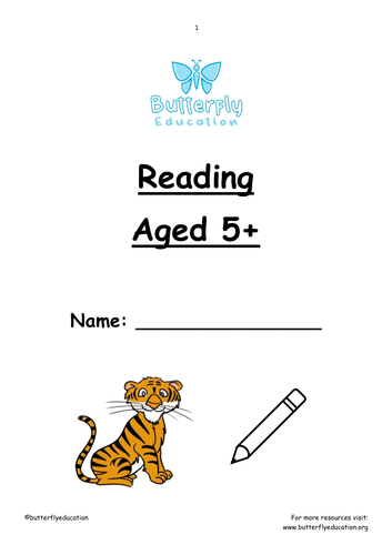 5+ Reading First Words Workbook