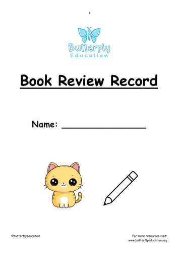 7+ Book Review Workbook