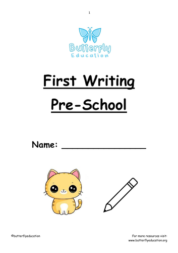 Pre-school+ First Writing Workbook
