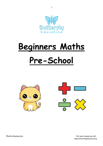 Pre-School First Maths Workbook