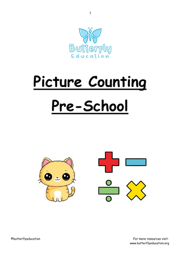 Pre-School Picture Counting Workbooks