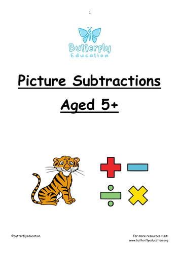 5+ Picture Subtraction Workbook