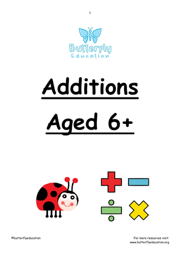 6+ Additions Workbook