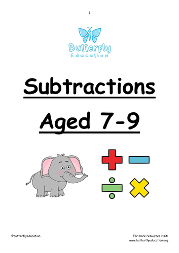 7-9 Subtraction Workbook