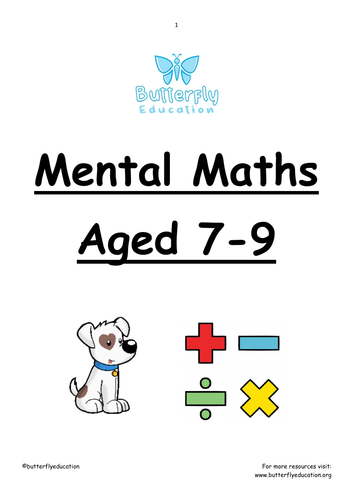7-9 Mental Maths Workbook