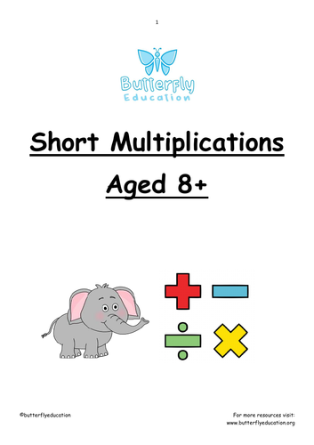 8+ Short Multiplication Workbook
