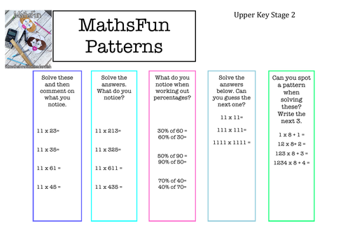 Maths Patterns (Spotting patterns in calculations)