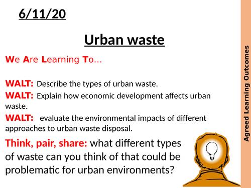 AQA A level urban waste