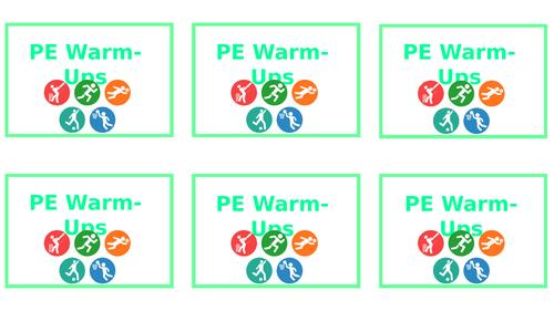 PE Warm-Up Cards