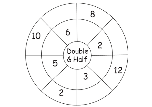 Year 1 differentiated double and half