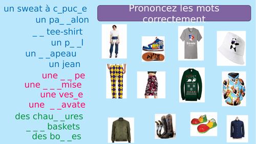 Porter (past tense) + clothes