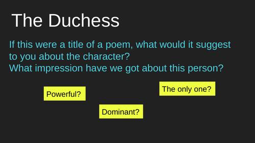 My Last Duchess: Analysis and Response