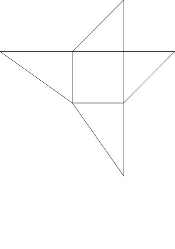 Square Based Pyramid Net (3 x Make a Cube)