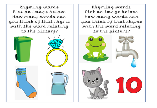 Rhyming Words Task