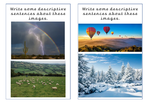 Descriptive Sentences Activity