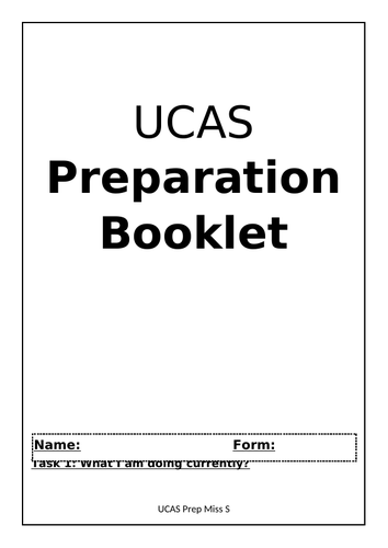 UCAS Prep Booklet