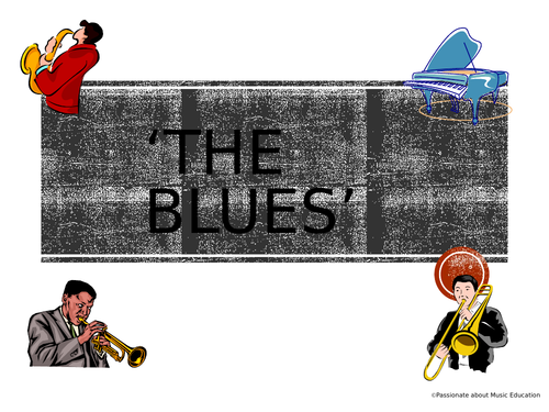 Learning the Blues walking bass line powerpoint for remote learning